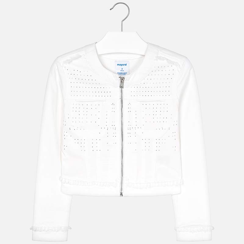 819e77414ce Studded jacket for girl White - Mayoral