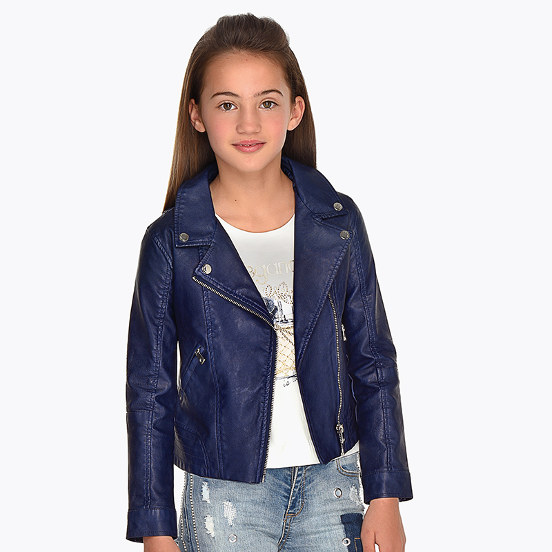 45eb72b58 Leatherette jacket with lapel collar for girl Eclipse - Mayoral