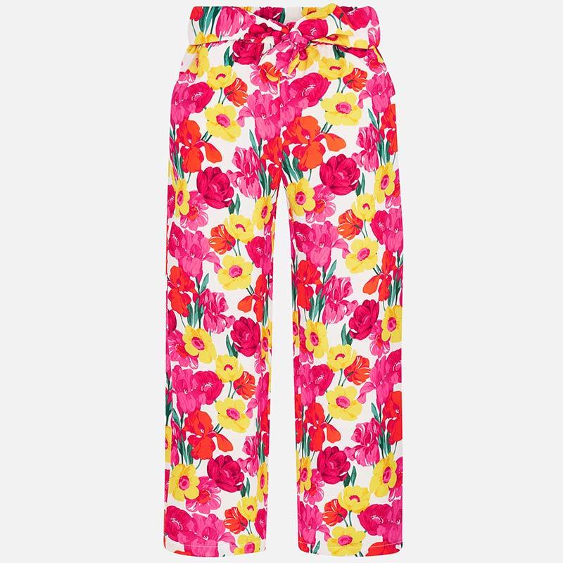 Pantalón largo flores niña Coral - Mayoral eb4713660828