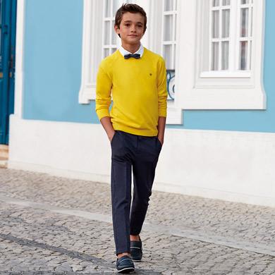 ae592974d4c08 Pantalón chino vestir lino niño