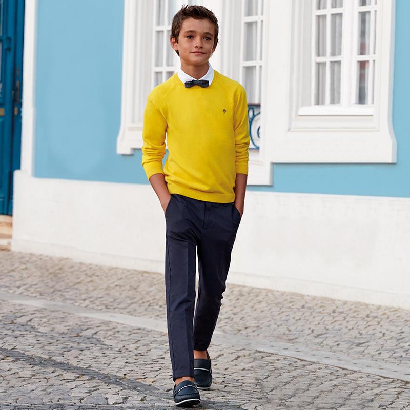 c8548299d99 Παντελόνι λοξότσεπο αμπιγιέ λινό αγόρι Θαλλασί - Mayoral