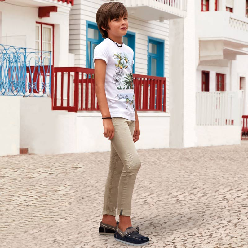 12e56f9f Slim fit trousers with key ring for boy Papyrus - Mayoral