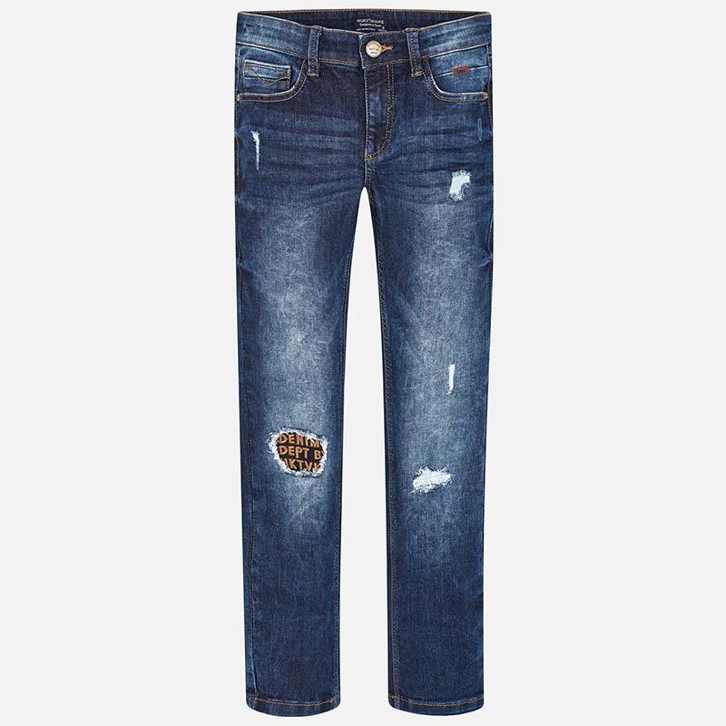 Strappi Bambino Jeans Fit Loose Pantalone Scuro 1clFJTK3