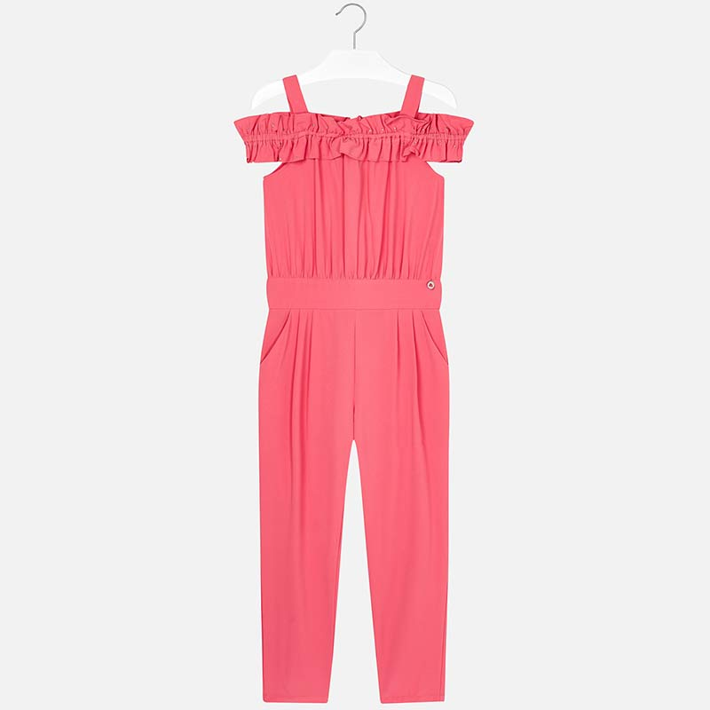 70fa51c97 Crepe jumpsuit for girl Coral - Mayoral