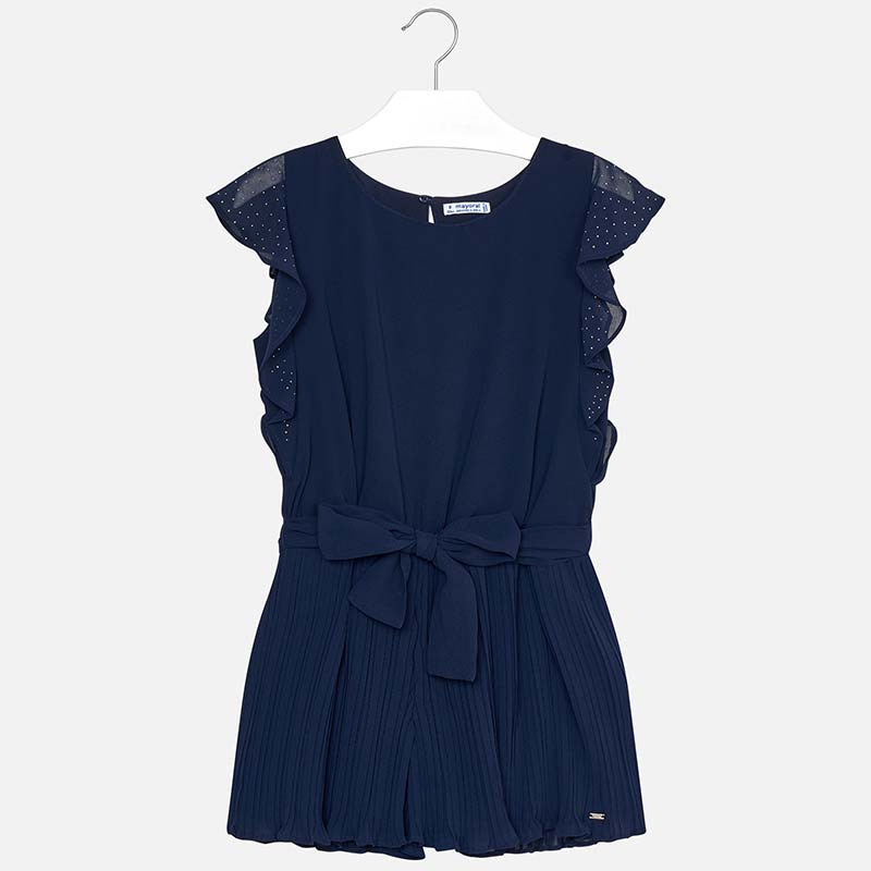 815062d72e Chiffon playsuit for girl Navy blue - Mayoral