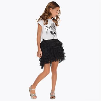 7955720eff Tulle skirt for girl Black - Mayoral