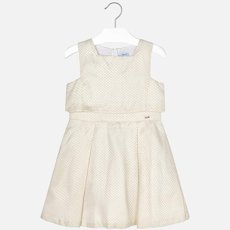 44454279974c Vestito bambina Panna - Mayoral