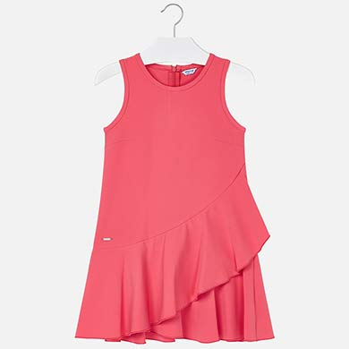 2c2389e9030ba2 Asymmetric ruffle dress for girl