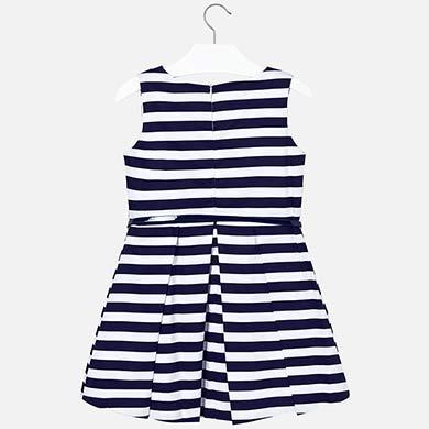 555239f00f73 Φόρεμα ριγέ με ζώνη κορίτσι Ναυτικό μπλε - Mayoral