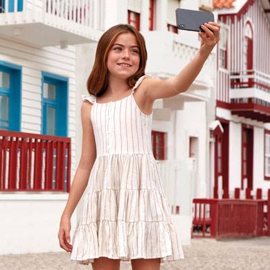 Φόρεμα τιράντες ρίγες κορίτσι a51f12c70cf
