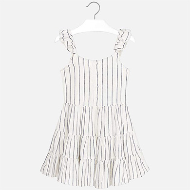 117047c62a Strappy striped dress for girl Navy blue - Mayoral