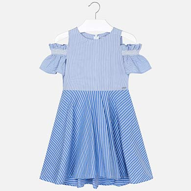 ded5b56c3fc8ba Combined striped dress for girl