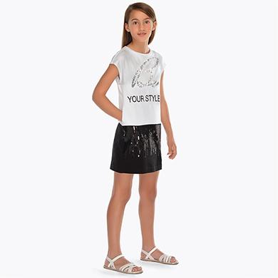 Vestido combinado lentejuelas niña Negro - Mayoral 875ccb6d50f4