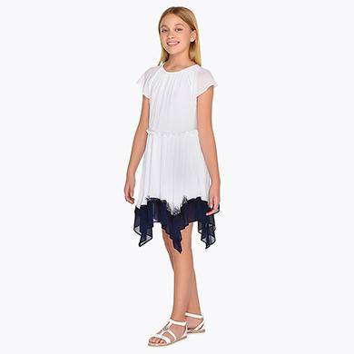 2d4dc5ad9dbbab Two-tone asymmetric bottom dress for girl