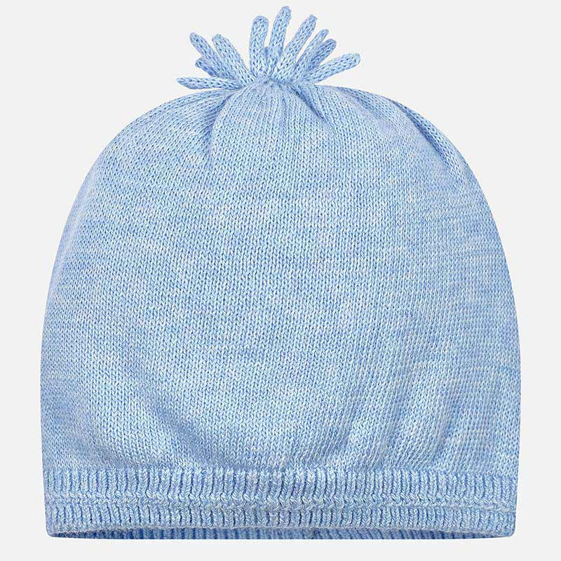 Knitted hat for newborn boy Sky blue - Mayoral e96323fab88