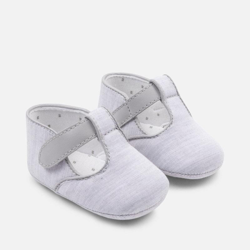 Scarpine eleganti neonato Argento