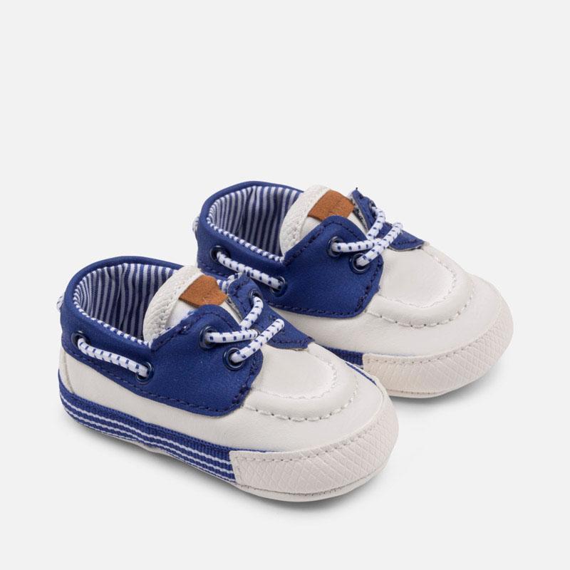 Ναυτικό παπούτσι νεογέννητο Λευκό - Mayoral 36b286da385