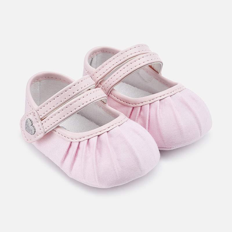 085593f2bb Sapato dupla fita bebé menina recém nascida Rosa Baby - Mayoral