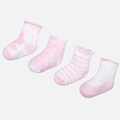Σετ 4 ζευγάρια καλτσάκια σταμπωτά νεογέννητο κορίτσι 43880513223