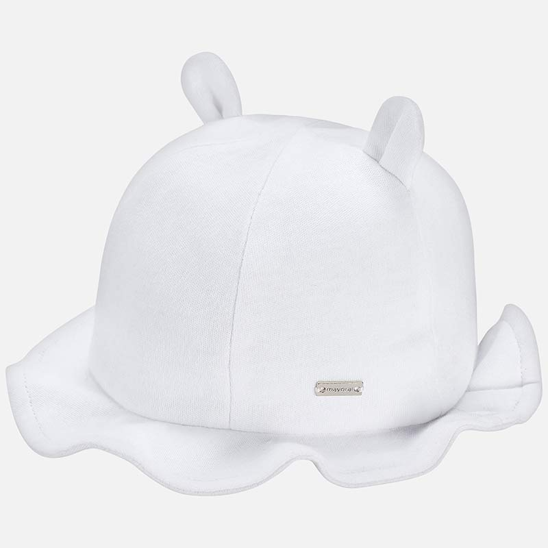 872a04e51df1 Hat with little ears for newborn baby White - Mayoral
