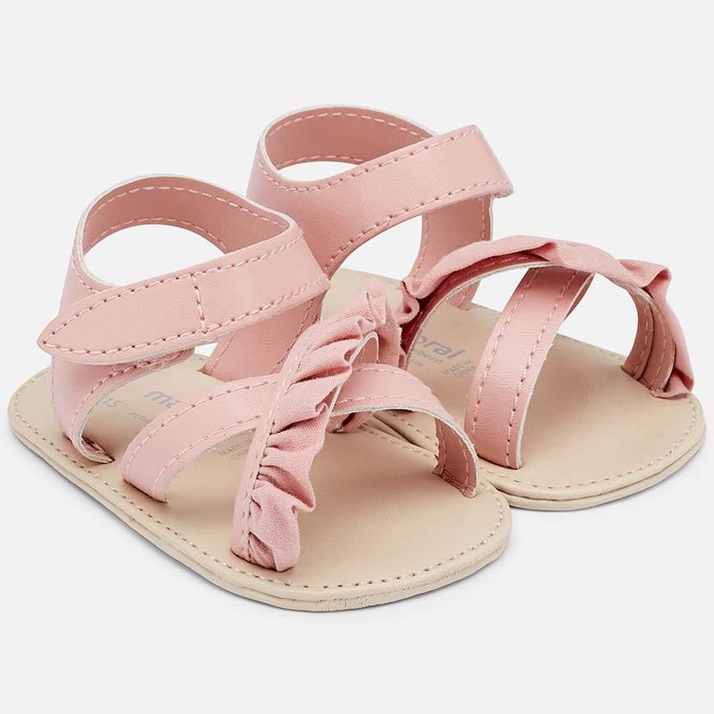 388e6e68d1cb0 Ruffle sandals for newborn girl Pink - Mayoral