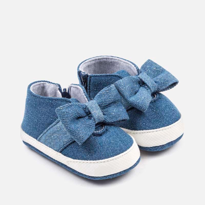 Παπούτσια αθλητικά φιόγκος νεογέννητο κορίτσι Τζιν - Mayoral 00da6001f3c