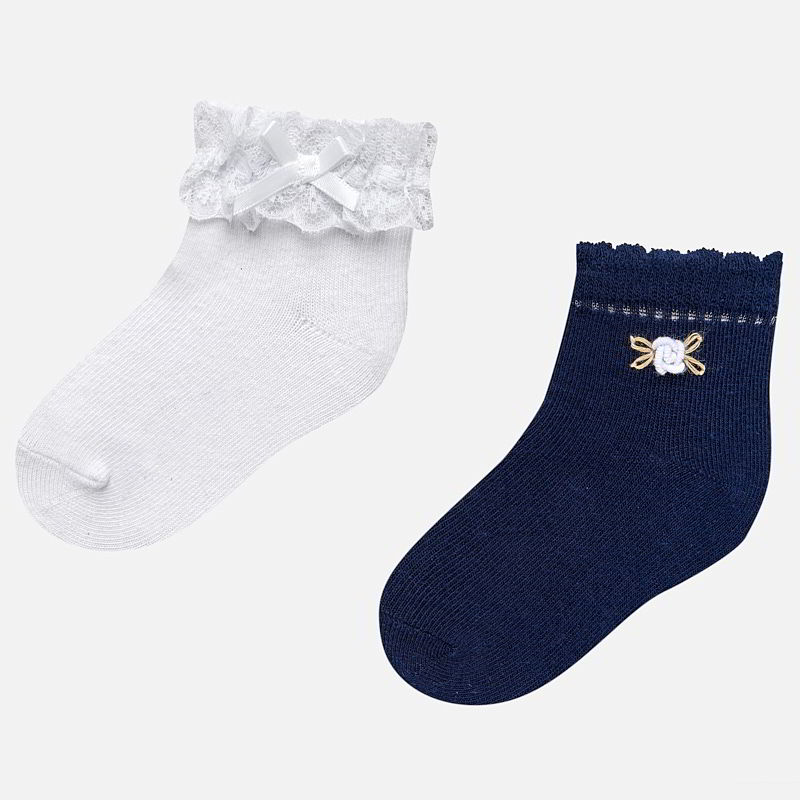 b9f3d24b3 Formal socks set for baby girl Navy blue - Mayoral