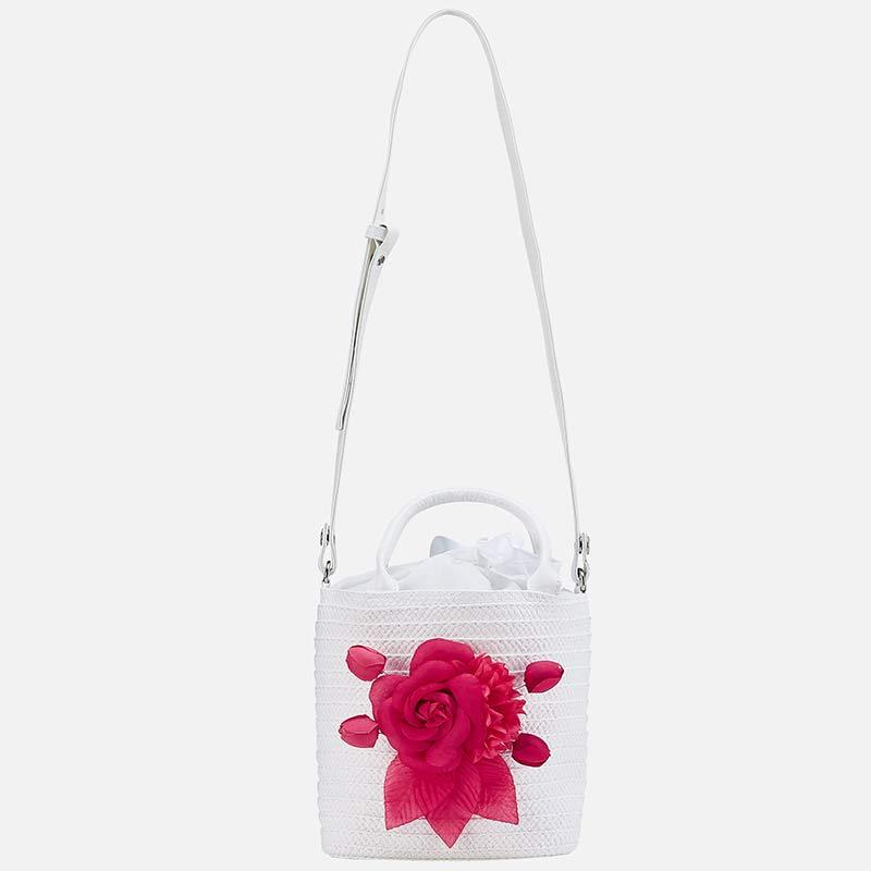 b8413033858 Τσάντα απλικέ λουλούδι κορίτσι Λευκό - Mayoral