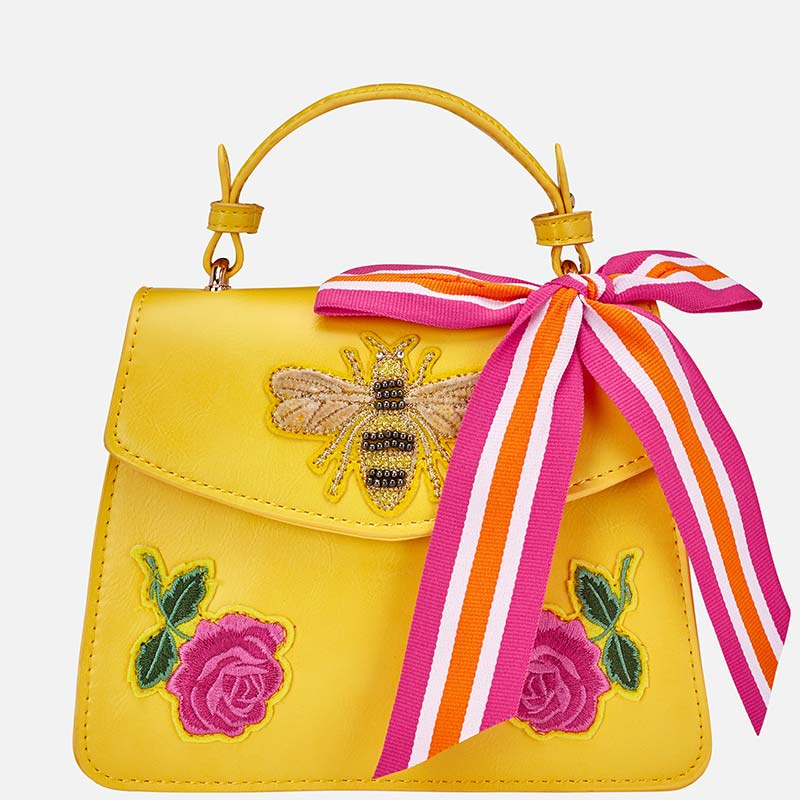 fc08d4ccba Decorative bow bag for girl Yellow - Mayoral