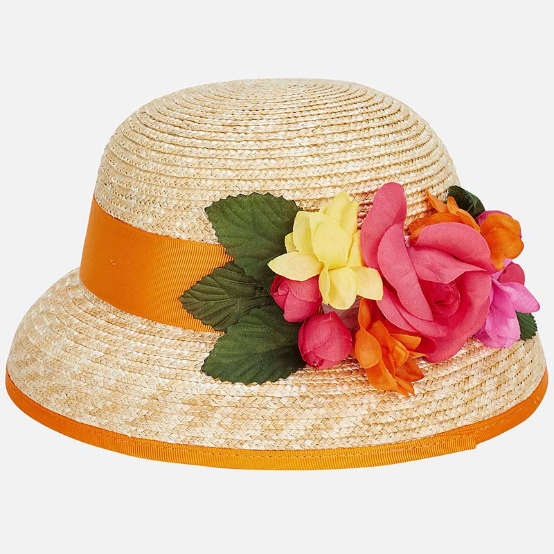 1dc6f3e04679 Καπέλο λουλούδια κορίτσι Κοραλί - Mayoral