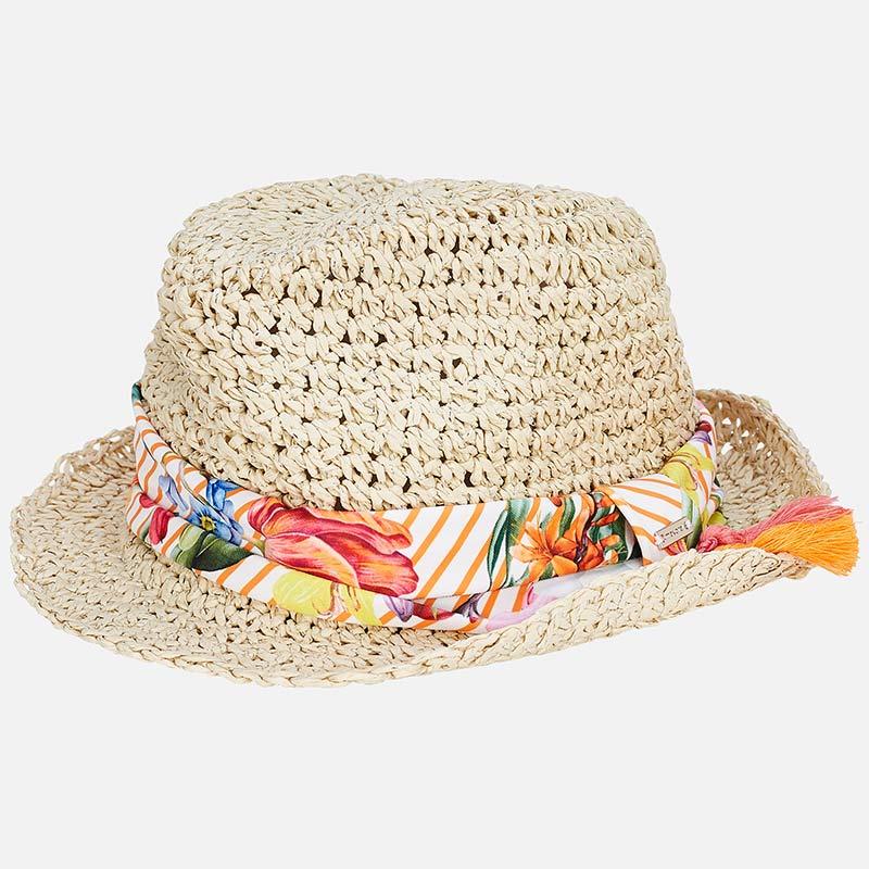 Sombrero pañuelo niña Mandarina - Mayoral