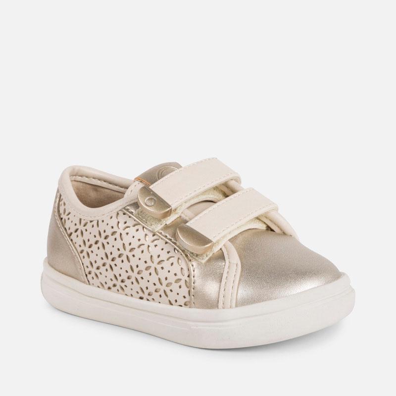 Παπούτσι casual μεταλλιζέ μωρό κορίτσι Σαμπάνια - Mayoral e2b3e436f6e