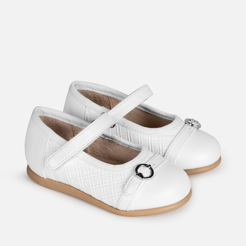 c8f1c9f932876 Mary Jane shoes with buckle for baby girl White - Mayoral