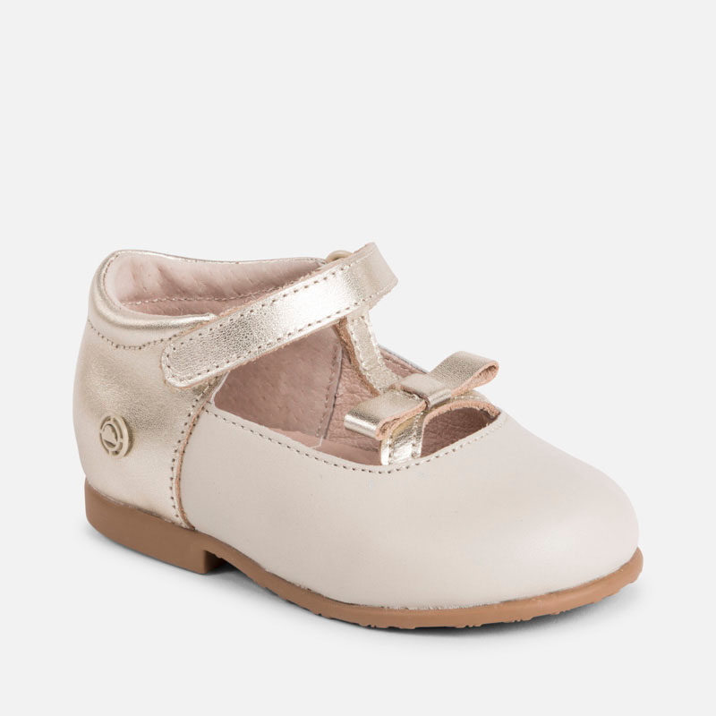 c58b4de8a1613 Leather Mary Jane shoes for baby girl Champagne - Mayoral