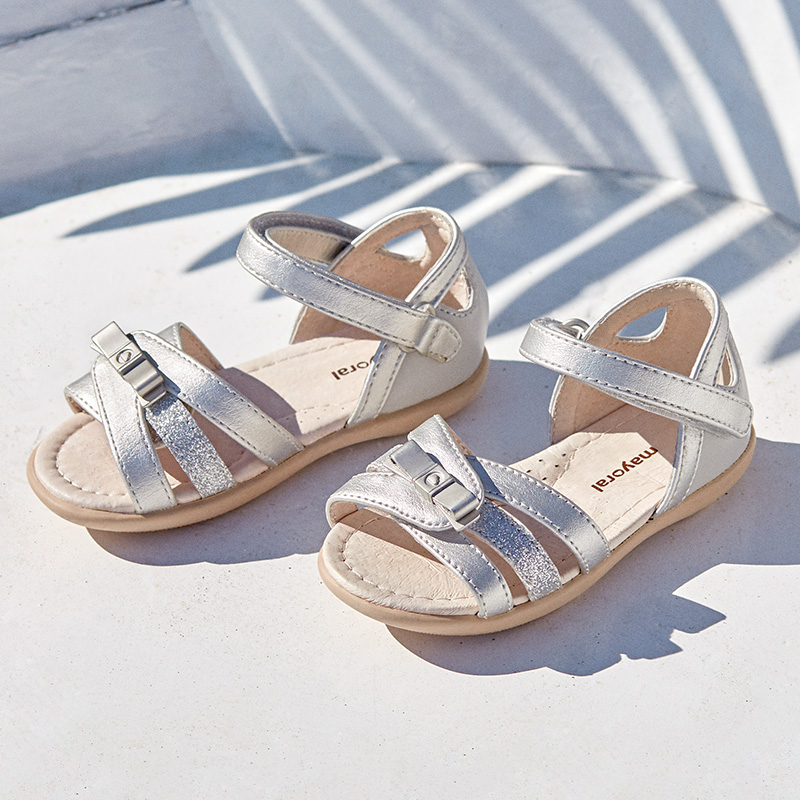 37e5cfecf2fc Laminated sandals for baby girl Silver - Mayoral