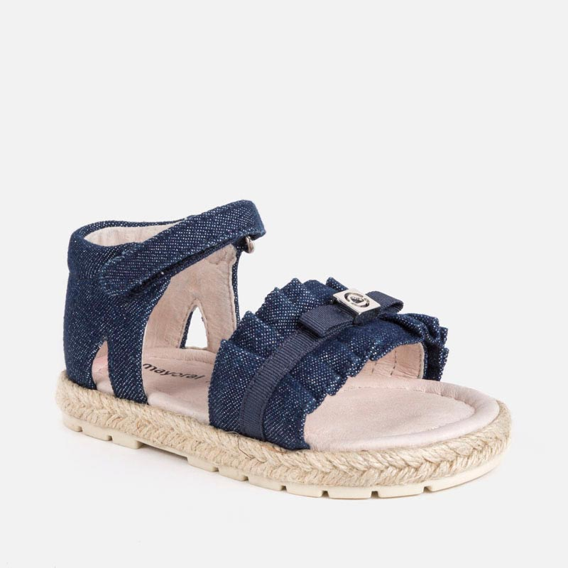 a2c80b12bf58 Jute sandals for baby girl Dark jeans - Mayoral