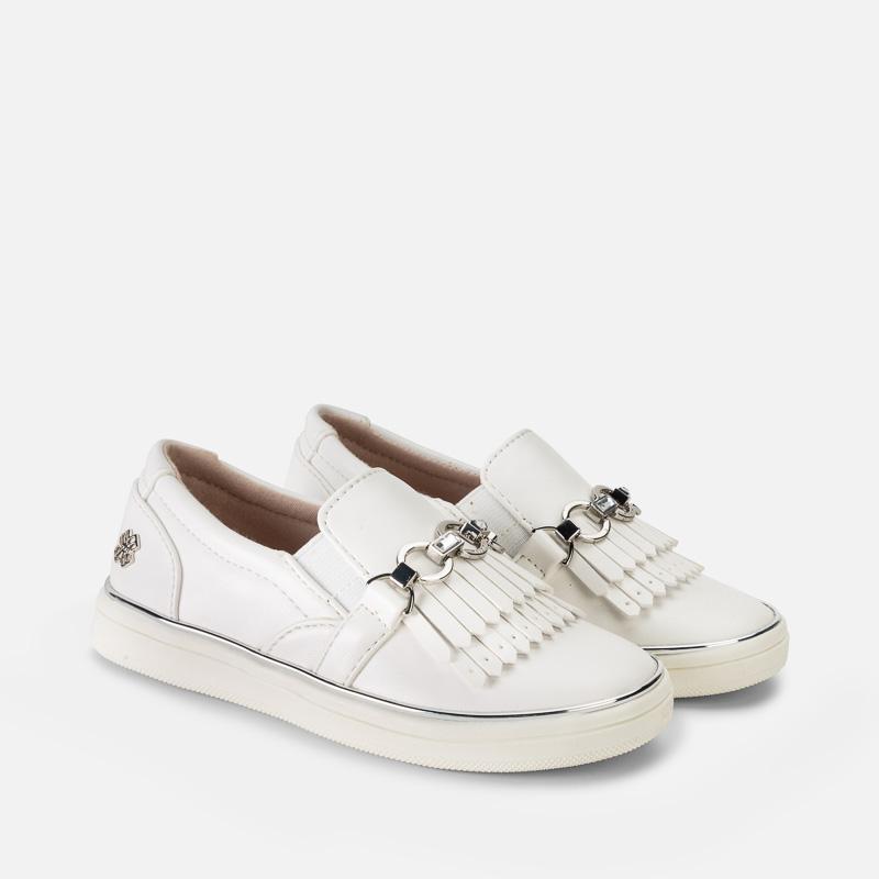 970cce6467e Παπούτσια casual κρόσσια κορίτσι Λευκό - Mayoral