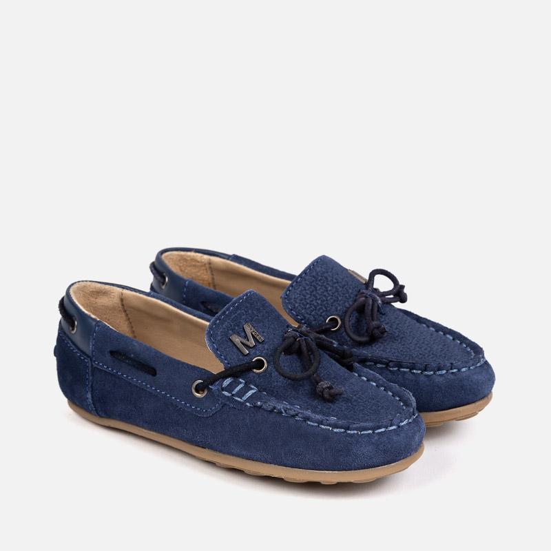 521f9e4dafa Split leather moccasins for boy Jeans - Mayoral