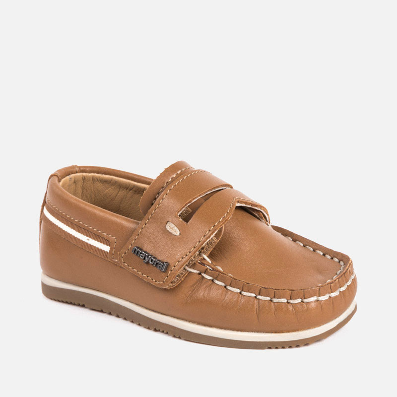 180bf7a6f4c Leather boat shoe for boy Camel - Mayoral