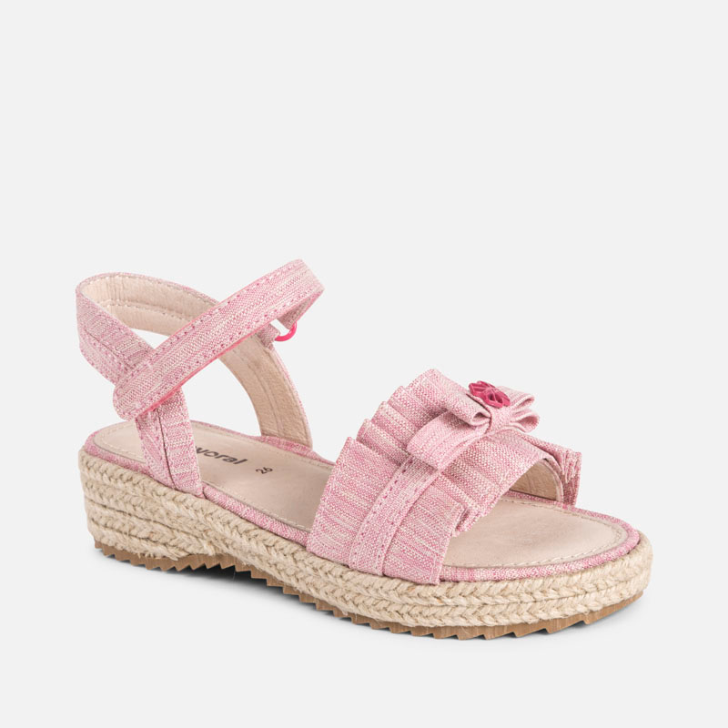 0906b79ece84 Jute platform sandals for girl Fuchsia - Mayoral