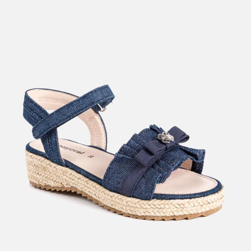 a427bdc905d4 Jute platform sandals for girl Dark jeans - Mayoral