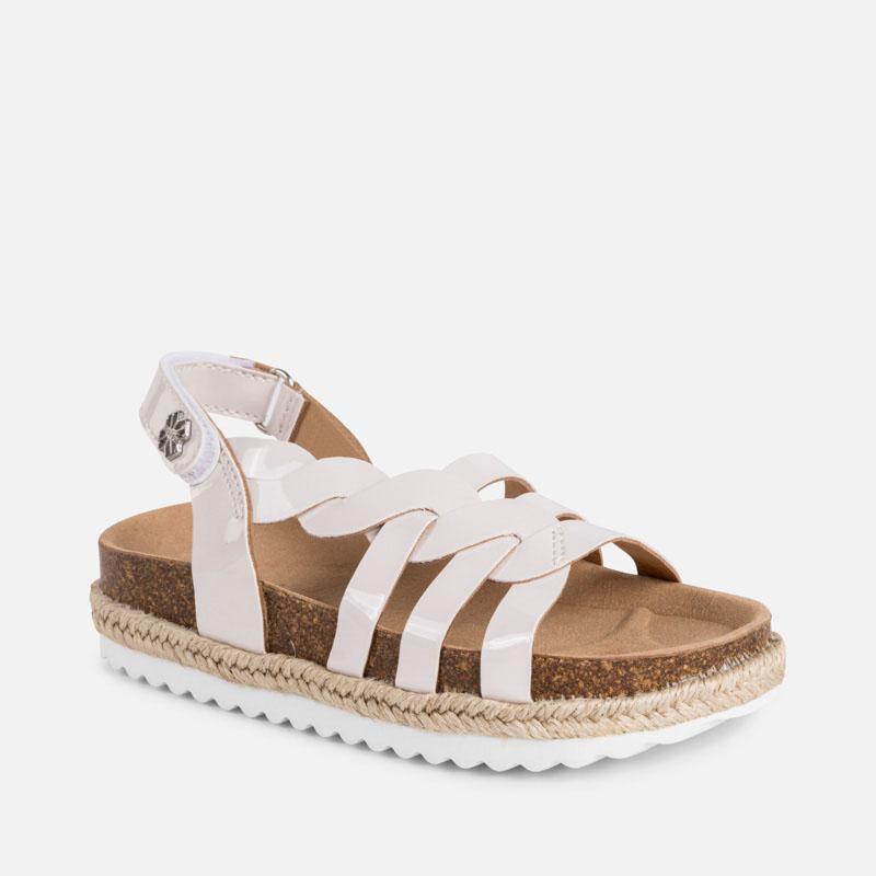 2c4b0531f2e4 Platform sandals for girl Off white - Mayoral