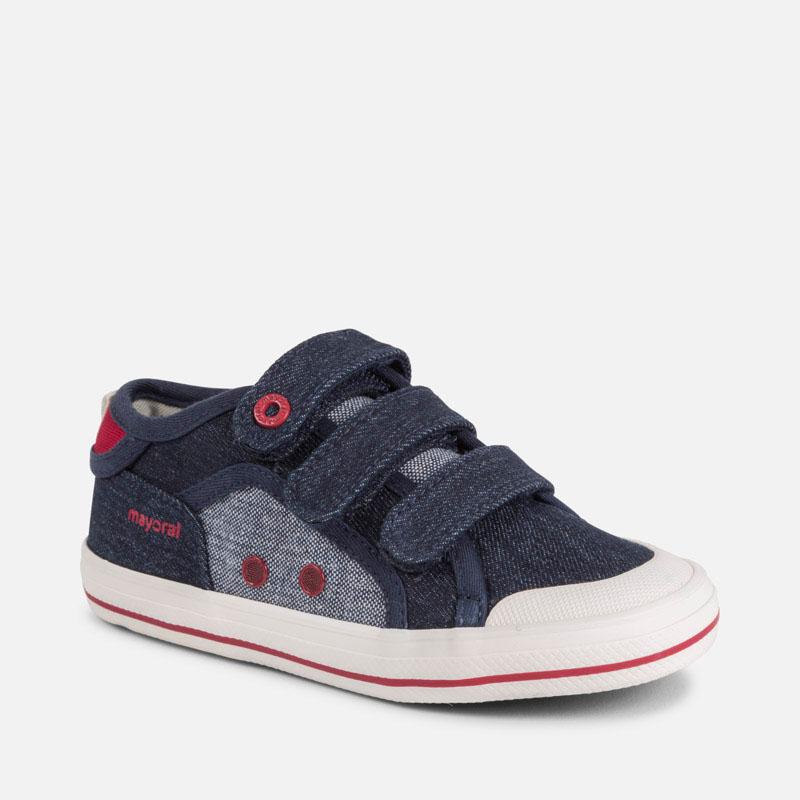 9e4ed7e1 Zapatillas lona con velcros niño Jeans oscuro - Mayoral
