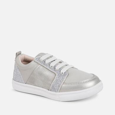 2de91c538 Zapatillas casual laminadas niña Plata - Mayoral