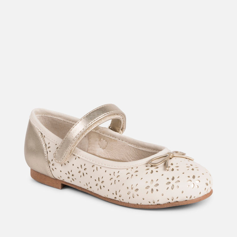 52f845ab7dade Openwork Mary Jane shoes for girl Champagne - Mayoral