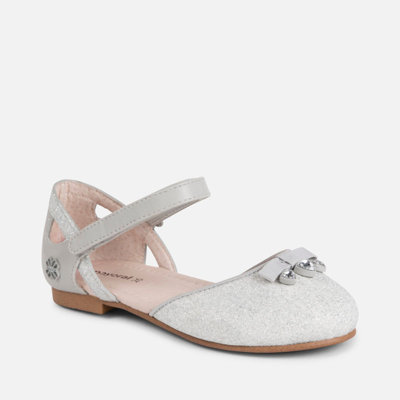 5655384e360a Half-open Mary Jane glitter shoes for girl Silver - Mayoral