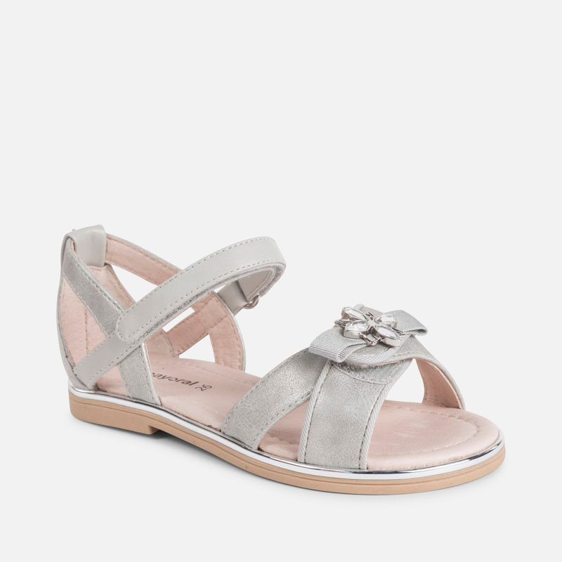 7190abe641dd Formal sandals for girl Silver - Mayoral