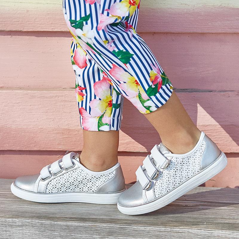 c0a4fa8dd92 Παπούτσι casual μεταλλιζέ κορίτσι Άσπρο-Ασημί - Mayoral