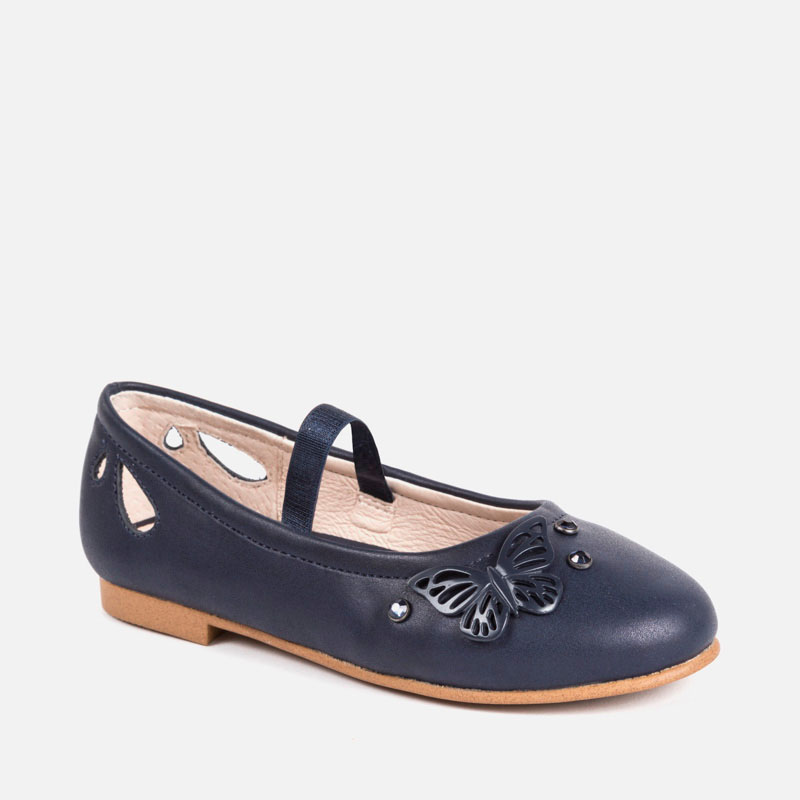 detailed look 2d854 e549a Ballerina pumps with butterflies for girl Navy blue - Mayoral