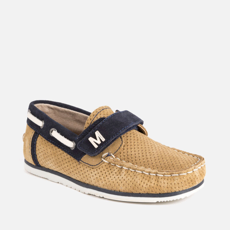 fbf8b82b7ba Split leather boat shoes for boy Desert - Mayoral
